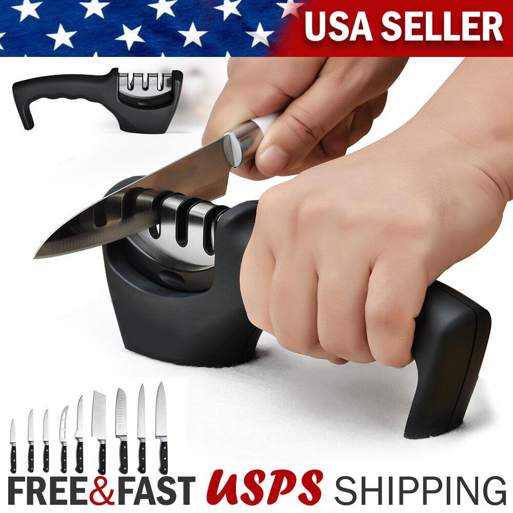 Knife Sharpener 3 Stage Ceramic Tungsten Kitchen Knives Blades Sharpening Tool