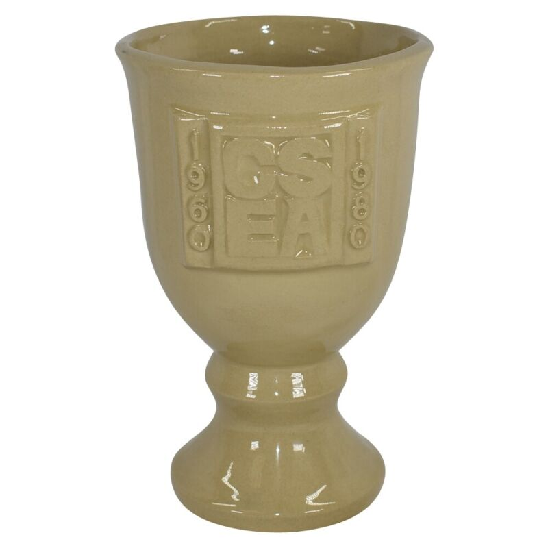 Van Briggle Pottery 1980 California State Employees Association Goblet Chalice