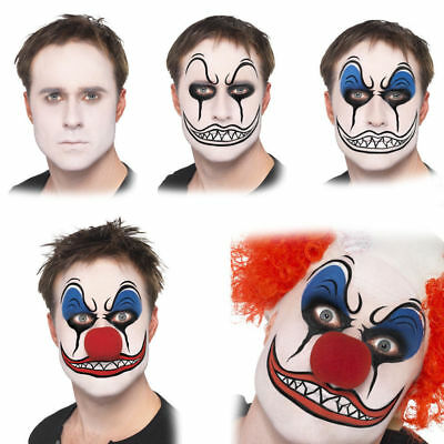 Make-Up Satz mit Rotem Nase Halloween Zubehör Halloween (Clown Halloween Gesicht Make-up)