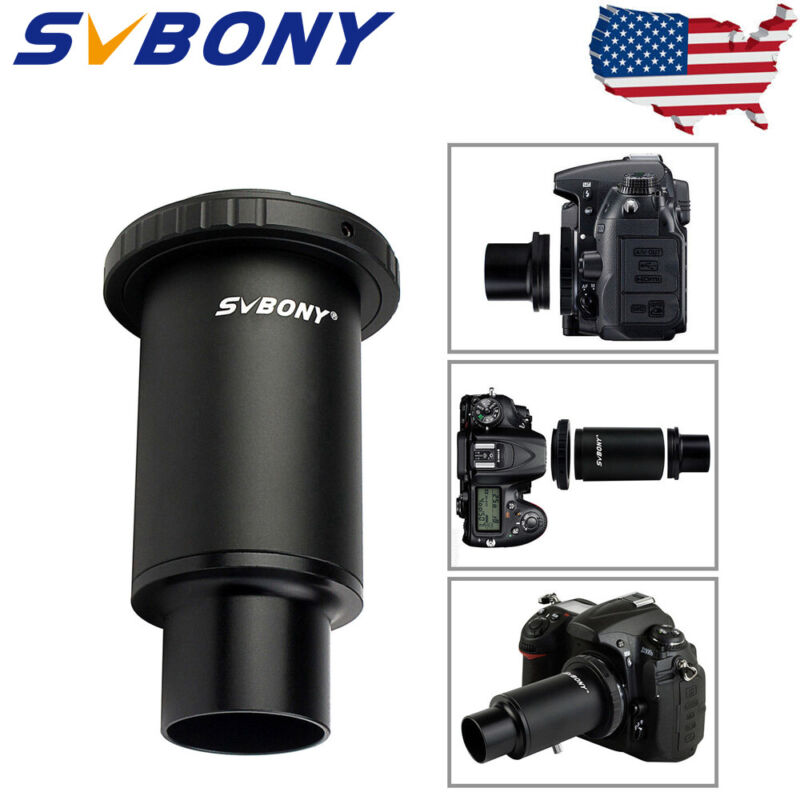 "1.25""M42 Thread T-Mount Adapter+T2-Ring For Nikon DSLR/SLR Lens Telescope US NEW"