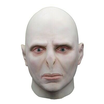 Voldemort Halloween Mask (Harry Potter Lord Voldemort Cosplay Face Mask Halloween Scary Costume Props)