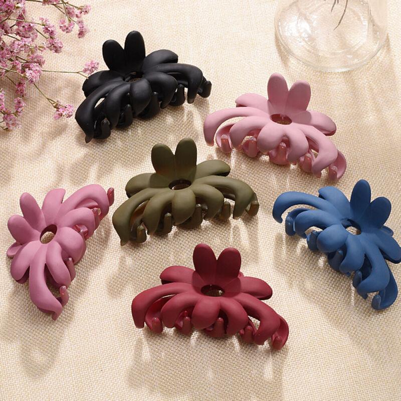 Colorful Acrylic Flower Hair Claw Hair clip Large Makeup Hai