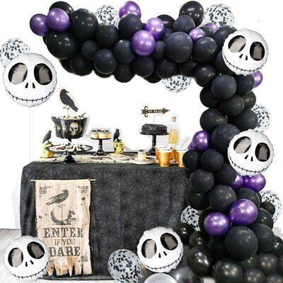 Halloween Balloon Arch Garland Kit Skull Balloon Birthday Party 145pc