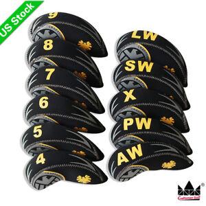 11PCS Set Neoprene Golf Iron Covers Head cover For mizuno Titleist Cobra  Ping d4947557eb