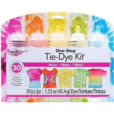 Neon 5-Color Tie Dye Kit Tulip NEW lime orange yellow fuchsia turquoise tye die (Tye Die Kit)
