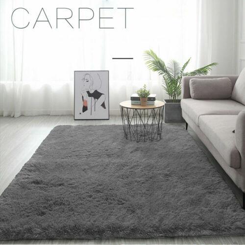 Teppich Flauschige Teppiche Hochflor Shaggy Langflor Wohnzimmer Pflegeleicht DE