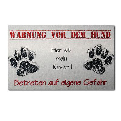 Warnschild Hund Hundeschild aus Alu Verbund