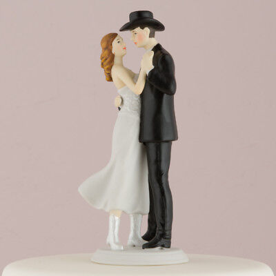 Western Embrace Wedding Cake Topper Couple Cowgirl Cowboy COLOR CUSTOMIZATION