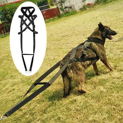"Black Weight Pulling Sledding Dog Harness X-back Style for Large Dogs 31.5""Neck"