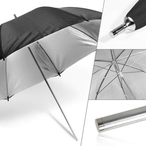 2 x 33, 40, 43 inch Double Layer Black & Silver Photo Studio Umbrella US seller