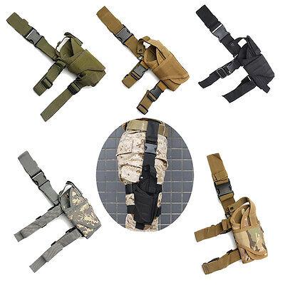 Tactical Army Pistol Gun Drop Leg Thigh Holster for Colt 1911 Left Right Hand Drop Leg Thigh Holster