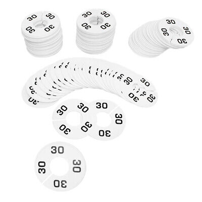 Hangers Retail Clothing Rack 3-12 Round Plastic Size 30 Dividers 10 Pcs White