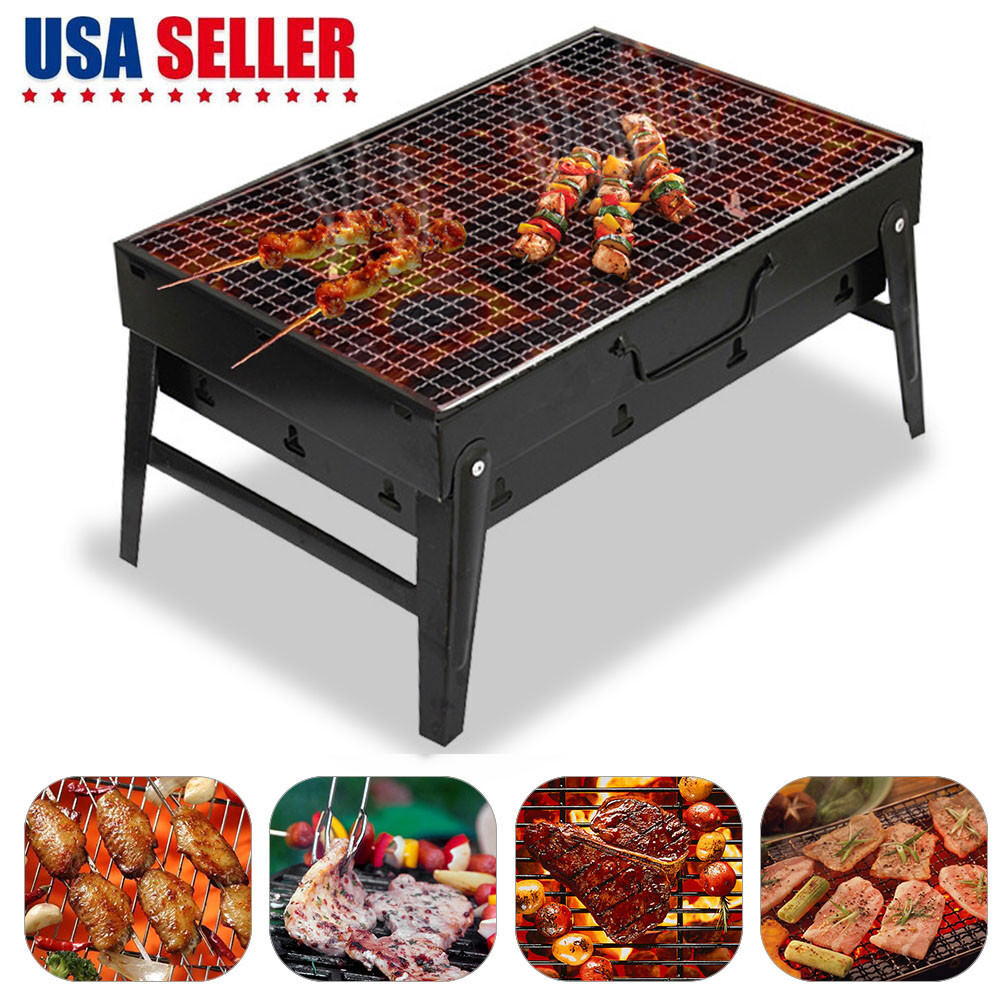 Small Barbecue Stove BBQ Grill Cook Heater Tabletop for Gard