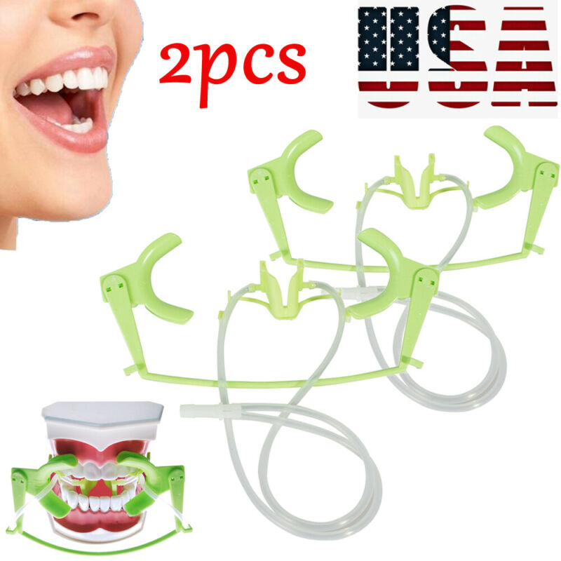 2XDental Retractor Oral Dry Field System Suction Saliva Lip Cheek Retractor  New