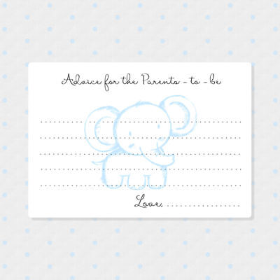 50 Baby Advice Cards for New Parents, Baby Shower Game - Baby Advice Cards