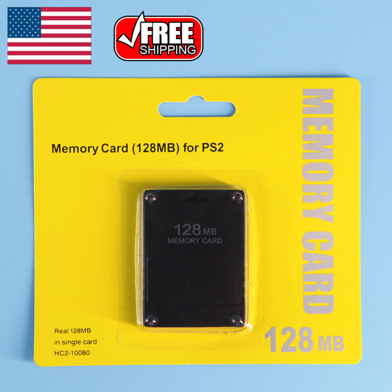 128MB Megabyte Memory Card For Sony PS2 PlayStation 2 Slim Game Data Console US