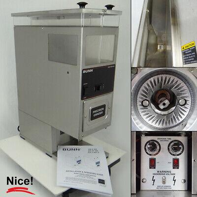 Bunn G9-2 Hd Dual Hopper Portion Control Commercial Coffee Grinder 24250.0000