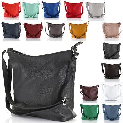 Leder Tasche Beutel (Leder Tasche Hand Schulter Umhänge Tasche Beutel Italy Hobo Bag Shopper A79 NEU)