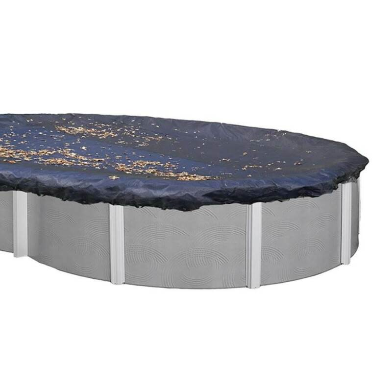 Swimline 16x32 Ft. Heavy Duty Oval Above Ground Winter Swimming Pool Cover, Blue