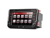 "Volkswagen/Seat/Skoda 7"" HD Screen GPS Navigator Car DVD Player Screen Mirroring USB AUX CD Stereo"