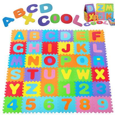 Alfombra de puzzle para niños colchoneta de espuma alfombra de juego 86...