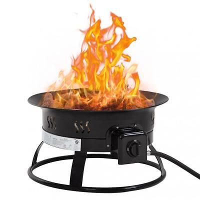 Outdoor Propane Gas Fire Pit Portable patio Fire Bowl 19Inch Diameter 58,000 BTU