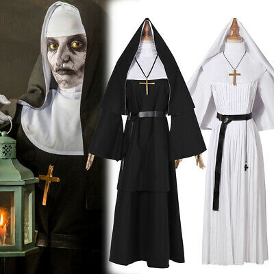 The Conjuring 2 The Nun Valak Sister Cosplay Costume Halloween Fancy Dress Robe (Halloween Costume White Dress)