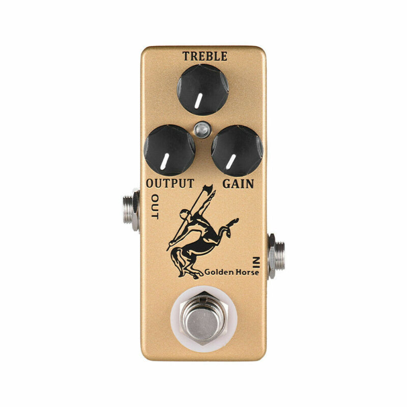 Mosky Golden Horse Guitar Effect Pedal Overdrive Boost True Bypass Footswitch