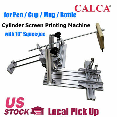 Manual Cylinder Screen Printing Machine For Pen Cup Mug Bottle Local Pick Up
