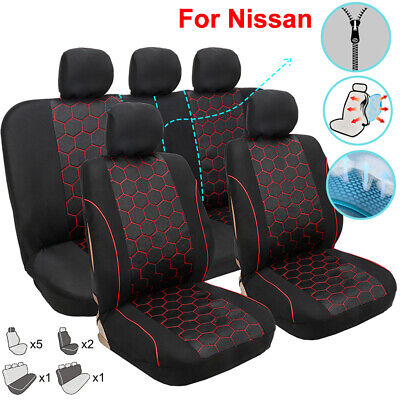 Polyester Car Seat Cover Universal Accessories Fit for Nissan Rogue Kicks Maxima