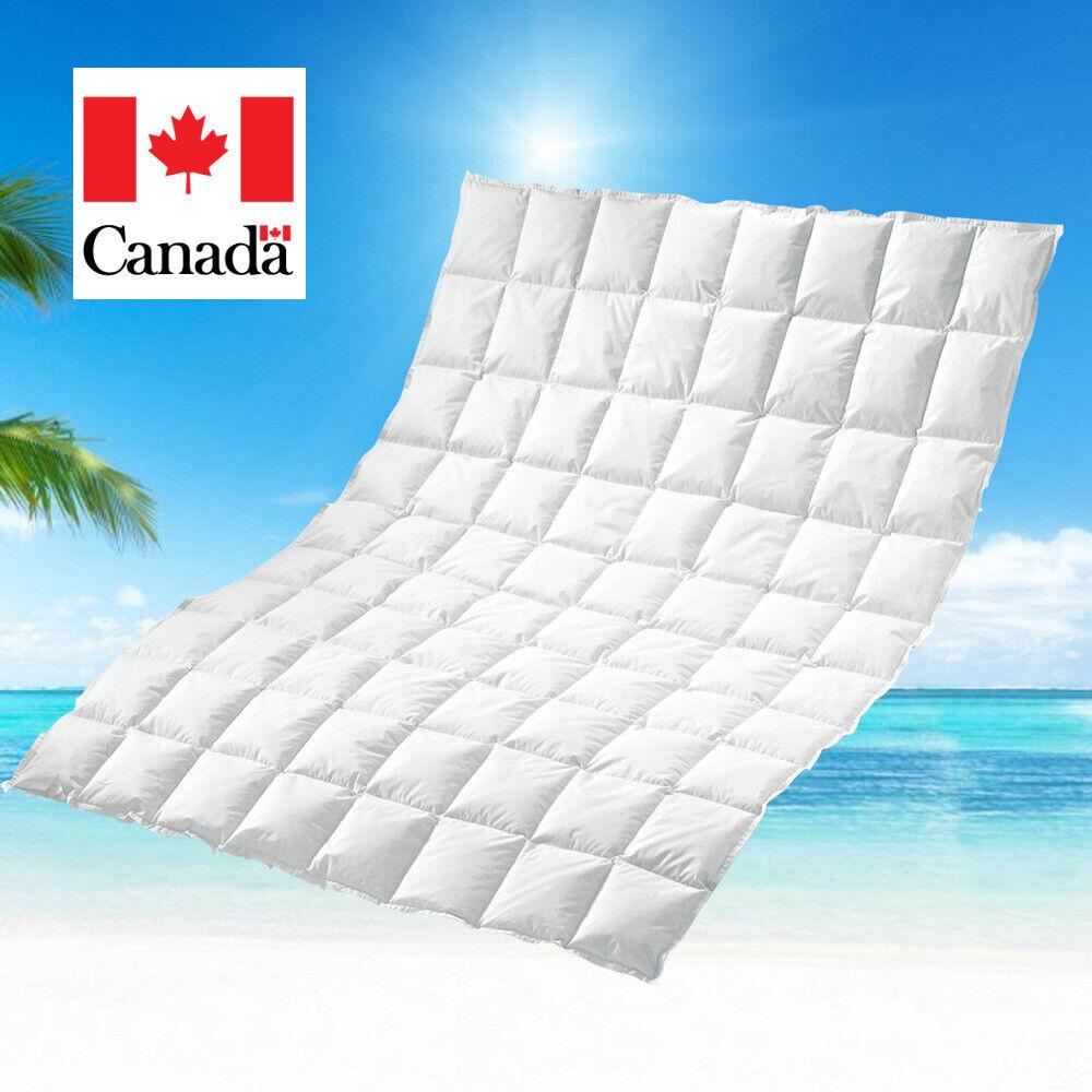 Canadische Sommer Daunen Bettdecke Sommerbett Sommerdecke 135x200 100% natur 60°
