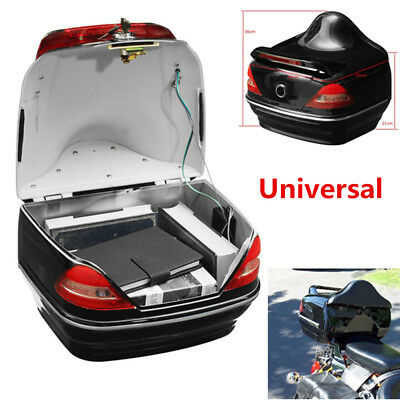 Motorcycle Trunk Box W/Taillight Fit For  Honda Yamaha BMW Vulcan Cruiser Sale