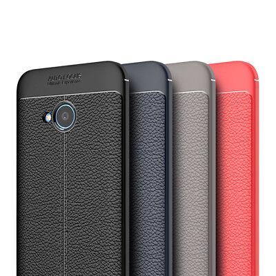 HTC U11 Life - TPU Design Schutzhülle Schutz Case Cover Hülle Etui Lederoptik Htc Design