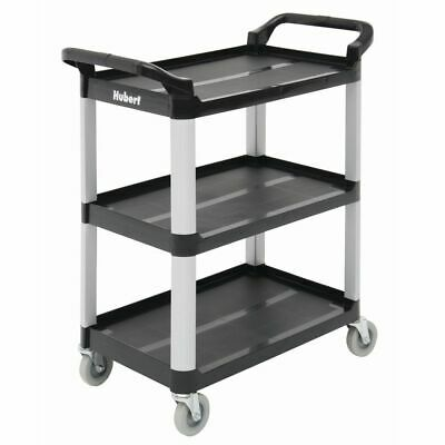 Hubert Cart With 3 Shelves Black Plastic - 33 L X 16 1316 W X 37 H