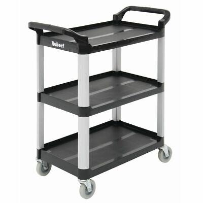 Hubert Small Cart With 3 Shelves Black Plastic - 33l X 16 1316w X 37h
