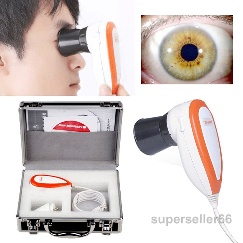 5.0 USB Iriscope LED Iris Analyzer Iridology Camera Pupilometer+Software+Case US