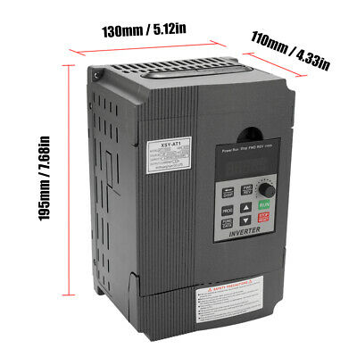 2.2kw Variable Frequency Drive 220v 12a Single To 3 Phase Vfd Inverter Us W5y3