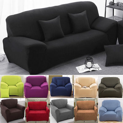 EASY Stretch Couch Sofa Lounge Covers Recliner 1 2 3 4 Seater Dining Chair Cover ()