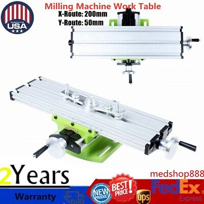 Milling Machine Worktable X Y Cross Slide Bench Drill Press Vise Table Us Stock