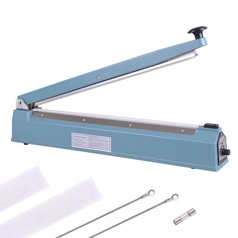 """20"""" Hand Sealer Impulse Heat Manual Seal Machine Plastic Poly Bag Closer Kit"""