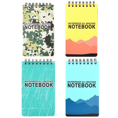 1pcs Waterproof Spiral Note Book All Weather Paper Outdoor Rain Notepad Students