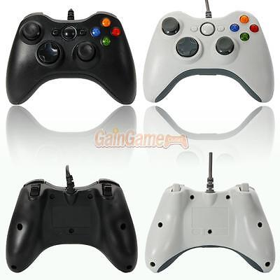 Usb Wired Game Remote Controller For Pc Computer Window Black   White