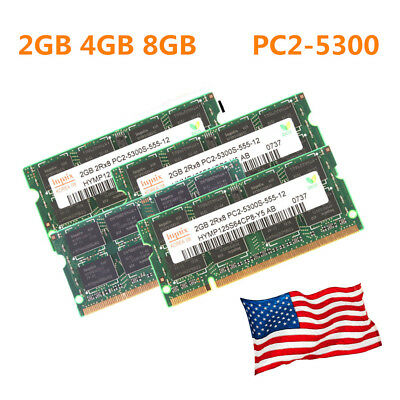 US Hynix 2GB 4GB 8GB PC2-5300 DDR2-667 667Mhz 200pin PC5300 Laptop Sodimm (667 Mhz Sodimm)