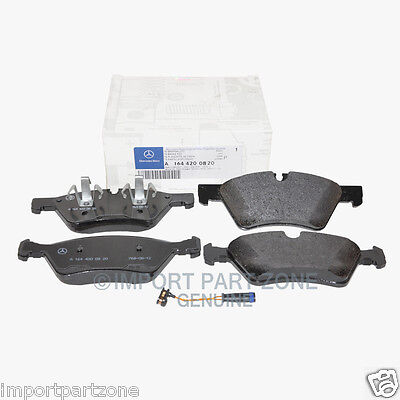 Mercedes Front Brake Pads Pad Set Genuine OE 1642220 + Sensor 16410 VIN#REQUIRED