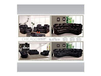 30 DAYS MONEY BACK GUARANTEED - LEATHER SOFA - RECLINER 3+2 AND CORNER SOFAS AVAILABLE