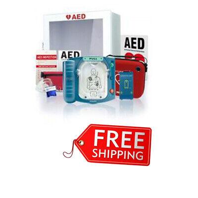 Philips Heartstart Onsite Aed Defibrillator Value Package Perfect Indoor New