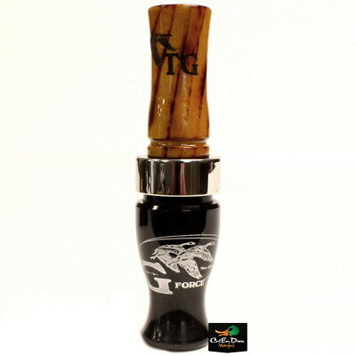 TIM GROUNDS G FORCE SHORT REED CANADA GOOSE CALL BLACK ACRYLIC HEDGE WOOD for sale  Shipping to India
