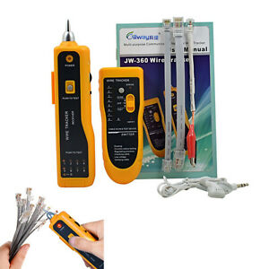 RJ45 Telephone/Phone Wire Tracker Tracer Ethernet LAN Network Cable Tester Toner