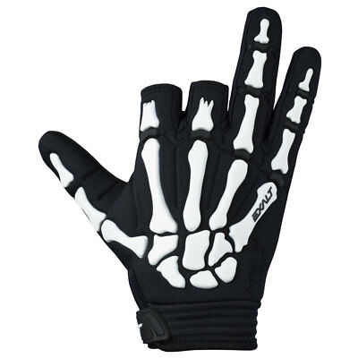 Exalt Death Grip Gloves - Black / White - Medium - Paintball