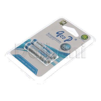 GODPAAAJ800*2B New 2 Pack AAA Rechargeable Battery Ni-MH 1.2V 800 mAh